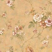 Arbor Rose Floral Apricot Wallpaper ARB67504