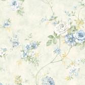 Arbor Rose Floral Azure Wallpaper ARB67505