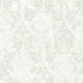 Arbor Rose Bentley Damask Frost Wallpaper ARB67573