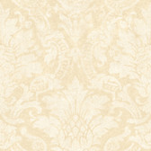 Cynthia Distressed Damask Eggnog Wallpaper AL13652
