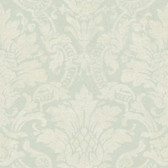 Cynthia Distressed Damask Pistachio Wallpaper AL13655