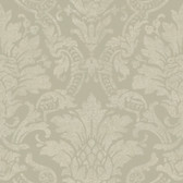 Cynthia Distressed Damask Sage Wallpaper AL13656