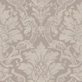 Cynthia Distressed Damask Grape Wallpaper AL13657