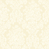 Illume Damask Cream Wallpaper AL13701