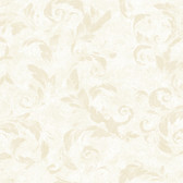 Edith Acanthus Brushstroke Cream Wallpaper AL13711