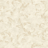 Edith Acanthus Brushstroke Linen Wallpaper AL13712