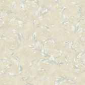 Edith Acanthus Brushstroke Oyster Wallpaper AL13714