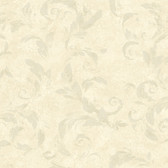 Edith Acanthus Brushstroke Beige Wallpaper AL13716