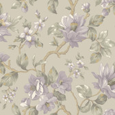 Berkin Large Floral Vine Hazelwood-Heather Wallpaper AL13723