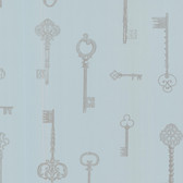 Addison Vintage Keys Slate Wallpaper 2532-20422