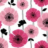 Darcy Modern Floral Fuchsia Wallpaper 2532-20489