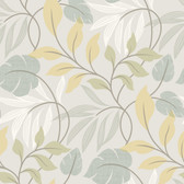 Clementine Modern Leaf Trail Stone Wallpaper 2532-20628