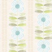 Avril Modern Floral Stripe Olive-Mauve Wallpaper 2532-20673