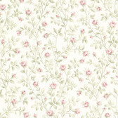302-66809 La Belle Maison Jardin Rosebud Trail Ruby Wallpaper