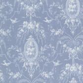 302-66816 La Belle Maison Flourish Cameo Fleur Cerulean Wallpaper