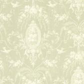 La Belle Maison Flourish Cameo Fleur Olive Wallpaper 302-66817