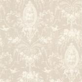 La Belle Maison Flourish Cameo Fleur Latte Wallpaper 302-66818