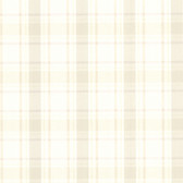 302-66844 La Belle Maison Grand Plaid Beige Wallpaper