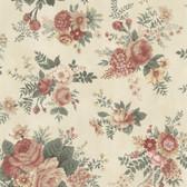 302-66856 La Belle Maison Rosa Floral Medley Crepe-Rosewood Wallpaper