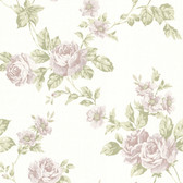 302-66877 La Belle Maison Bloom Floral Trail Mauve Wallpaper