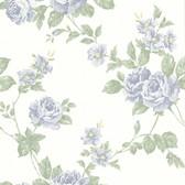 La Belle Maison Bloom Floral Trail Blue Wallpaper 302-66878