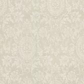 302-66887 Ornament Damask Motif Flaxen Wallpaper