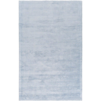 Graphite Striped Sky Blue Rug