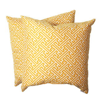 Yellow Golden Outdoor Pillows - Set of 2
