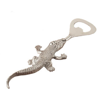 Silver Bottle Opener - Alligator