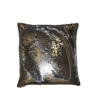 Shiny Pewter Accent Pillow 24x24