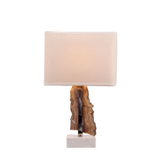 Natural Sliced Agate Stone Lamp
