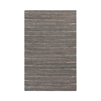 Reversible Hand Woven Leather Area Rug