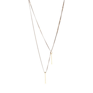 Twice As Nice Necklace - Black