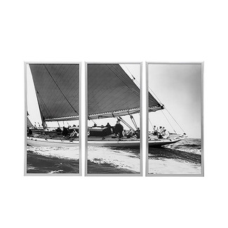 Sailboats in Black and White  - Set of 3