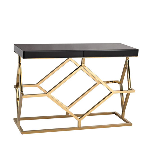... Black And Gold Deco Console Table. Image 1