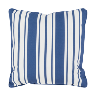 Navy Nautical Stripe Accent Pillow