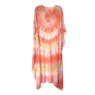 Long Pink Silk Cover Up