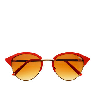 Paulina Cat Eye Sunglasses - Red/Gold