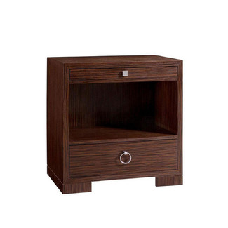 Frances 2-Drawer Palmwood Side Table