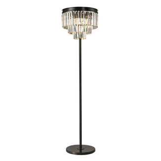 Oil Rubbed Bronze Finish Crystal Floor Lamp