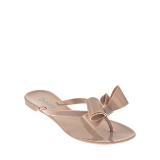 Bow Jelly Sandal Beige
