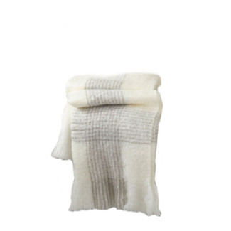 Ivory Faux Mohair Throw