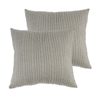 Home Cable Knit Pillows 22 x 22-Set of 2