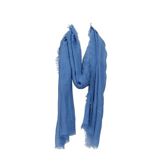 Denim Lightweight Crinkle Scarf