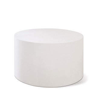 Ivory Lightweight Concrete Accent Table