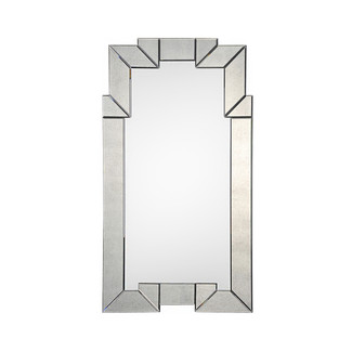 Antiqued Beveled Mirror Framed Mirror
