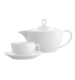Broadway White Tea Set 15 Pieces