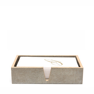 Faux Shagreen Hand Towel Trays, Set of 2