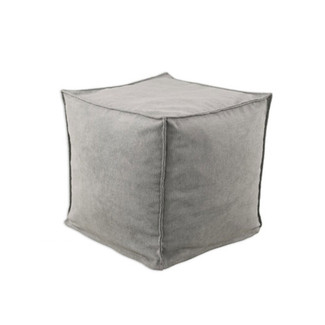 Storm Grey Square Hassock