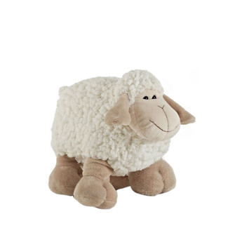 "Cute 10"" Ivory Plush Sheep Stuffed Animal"